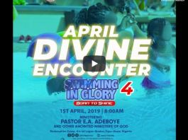 RCCG APRIL 2019 HOLYGHOST SERVICE SWIMMING IN GLORY 4