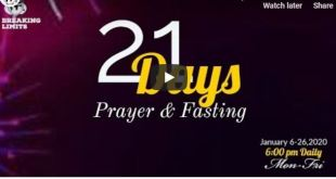 Winners 2020 Fasting 21 Days prayer points