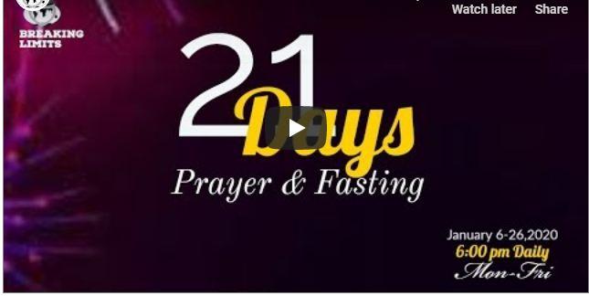 Winners 2020 Fasting 21 Days prayer points