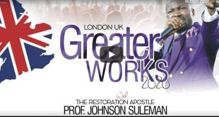 Greater Works 2020 Johnson Suleman