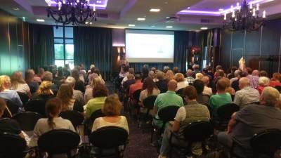 Plenaire workshop tijdens het congres