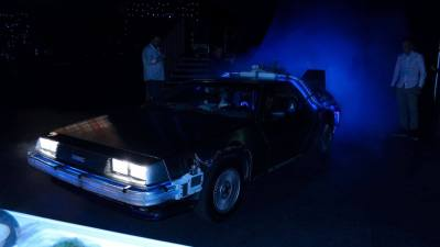 Back to the Future DeLorean huren in Amsterdam onthulling