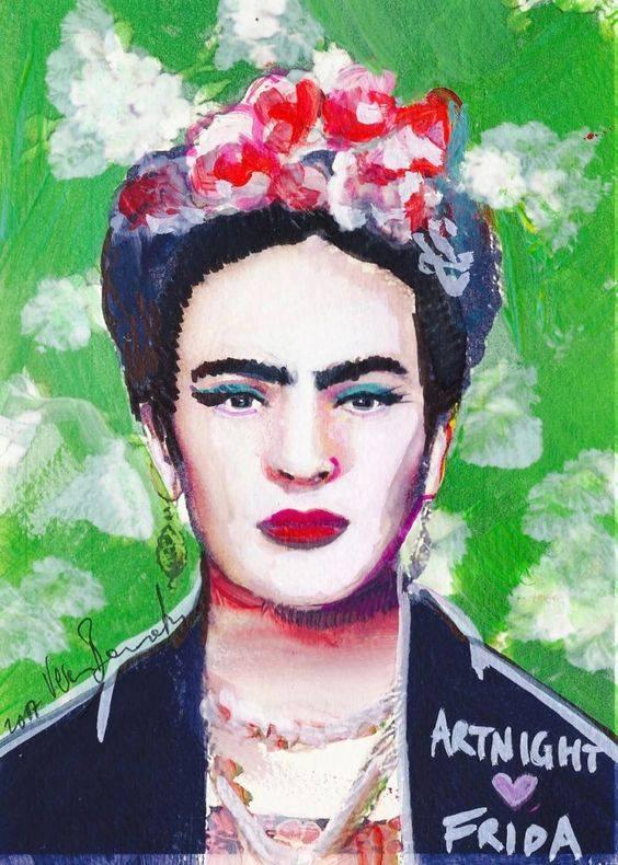 Schilder workshop organiseren als bedrijfsuitje of teambuilding-Designkeuze-Portret-Frida