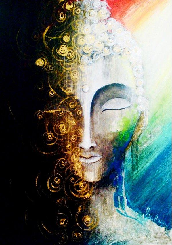 Schilder workshop organiseren als bedrijfsuitje of teambuilding-Designkeuze-buddha