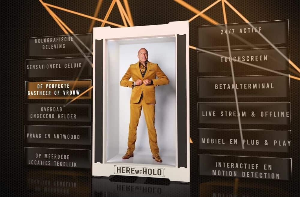 Holografische projectie huren voor evenement - Entertainment en gastheer als hologram