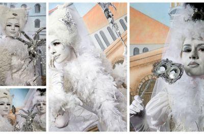 Een gemaskerd feest als bedrijfsfeest of personeelsfeest levend standbeeld huren