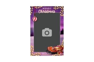 Bedrijfsfeest, Personeelsfeest, Kerst, Fotobooth huren, fotocollage paars thema 2