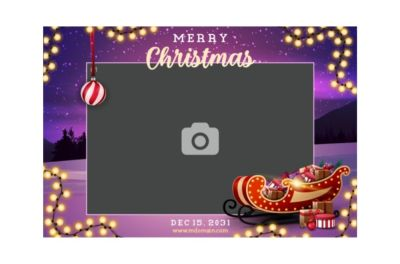 Bedrijfsfeest, Personeelsfeest, Kerst, Fotobooth huren, fotocollage paars thema 4