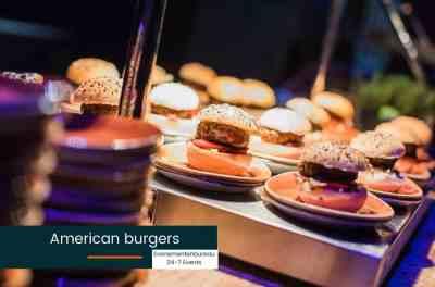 Catering voor een Las Vegas Bedrijfsfeest American Burgers