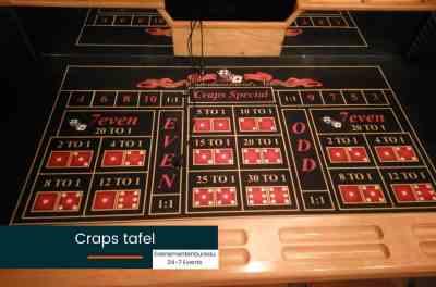 Craps tafel huren voor een Las Vegas bedrijfsfeest met thema