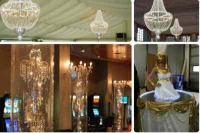 Kerstfeest zakelijk evenement personeelsfeest verlichte plafond luchtdecoratie en versiering huren organiseren afbeelding 5