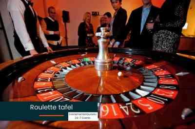 Roulette wiel voor een Las Vegas Bedrijfsfeest met thema