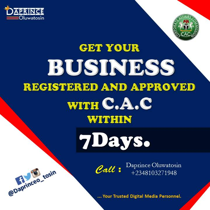 CAC business registration made easy in 7 days
