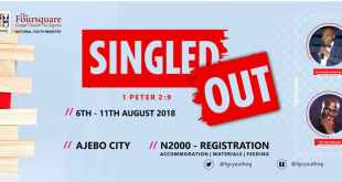 KC 2018 LIVE STREAM - FOURSQUARE GOSPEL CHURCH IN NIGERIA YOUTH CAMP 2018 : #SINGLEDOUT