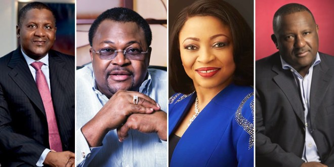 Ipere Evanx Unveils The Top Four Nigerian Billionaires In Forbes' List Of The World's Black Billionaires Of 2019