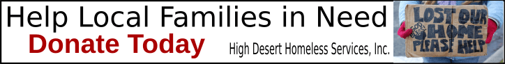 High Desert Homeless Services Helping Families Ad