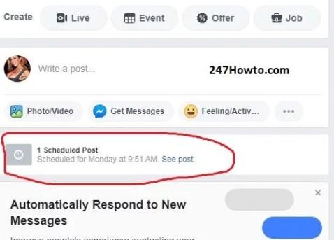 Where to find scheduled posts