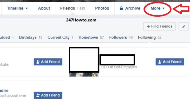 How to find out who i am following on Facebook