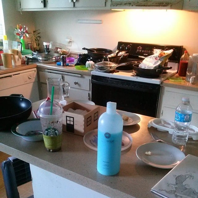Messy Kitchen - Before