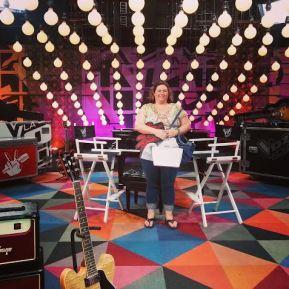 Jessie on Set at La Voz Kids #LVKBloggers #LVKParty