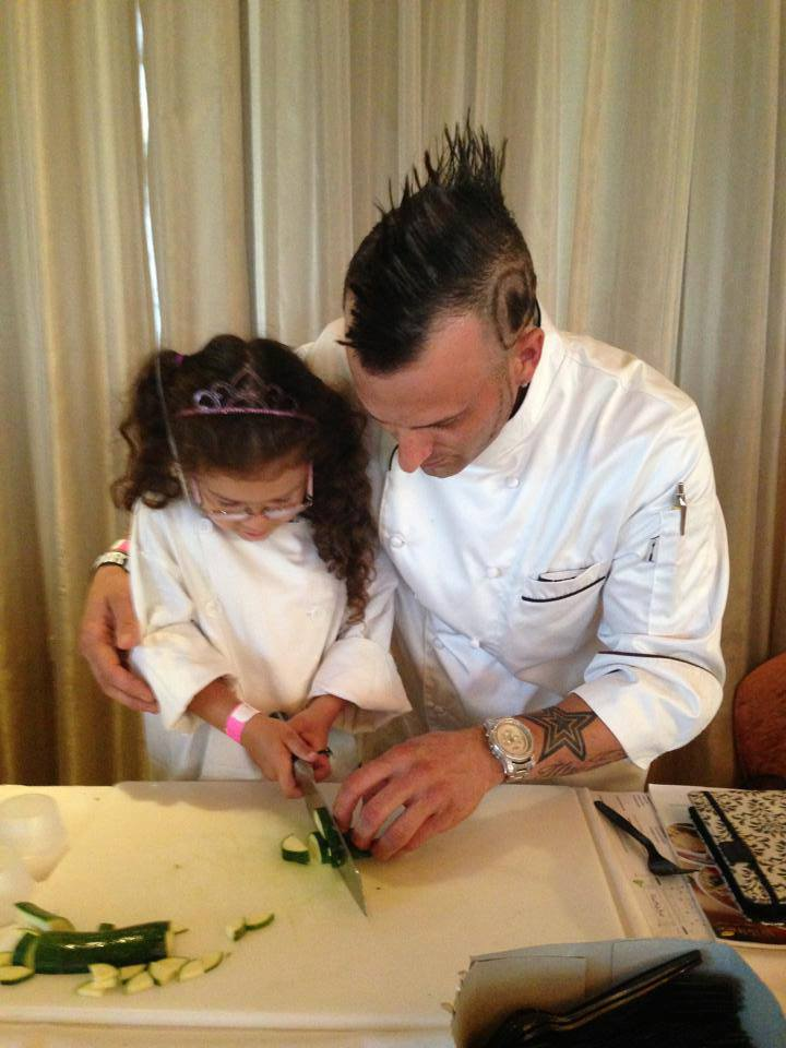 chef barret and daughter