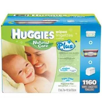 Huggies Plus Wipes Sponsored