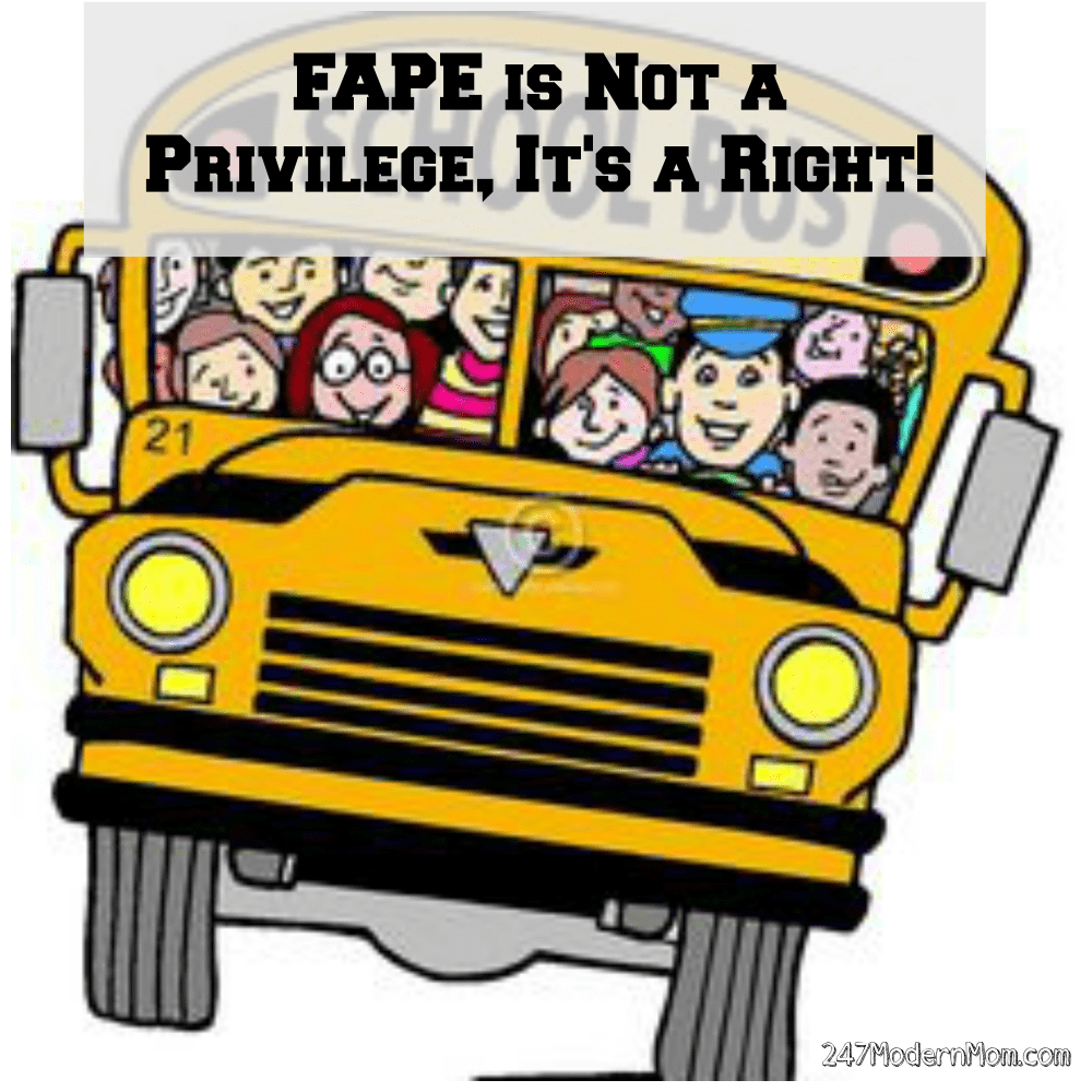 FAPE Is Not A Privilege, It's A Right: Special Needs Education 101