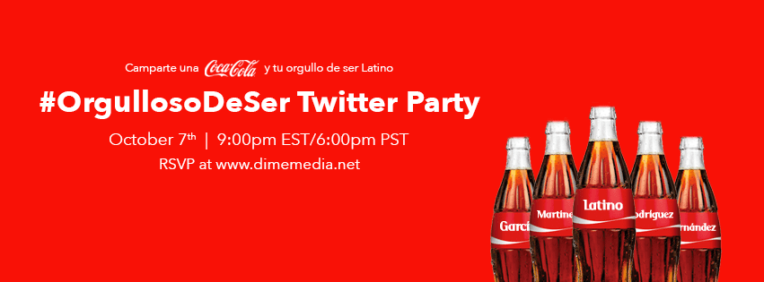 Coca-Cola #OrgullosoDeSer Hispanic Heritage Bilingual Twitter Party