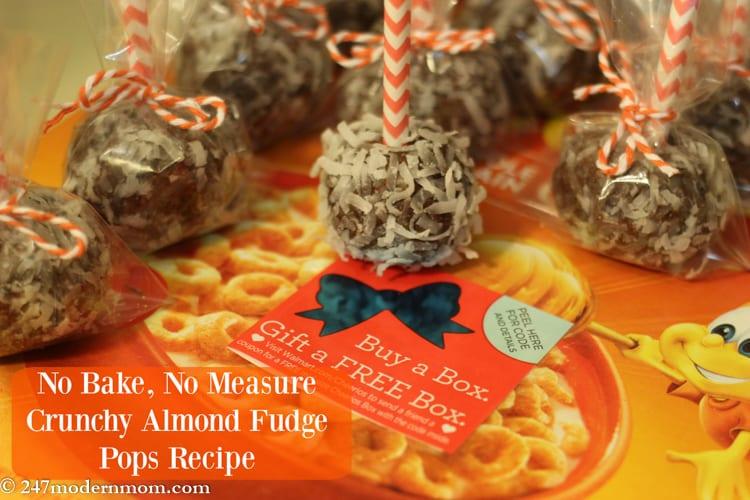 No Bake Recipe: Crunchy Almond Fudge Pops