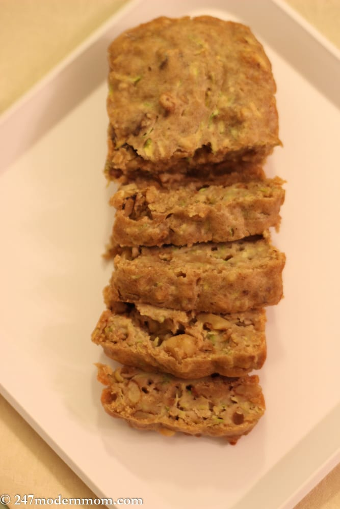 Zucchini Bread Recipe - No Sugar Added -6