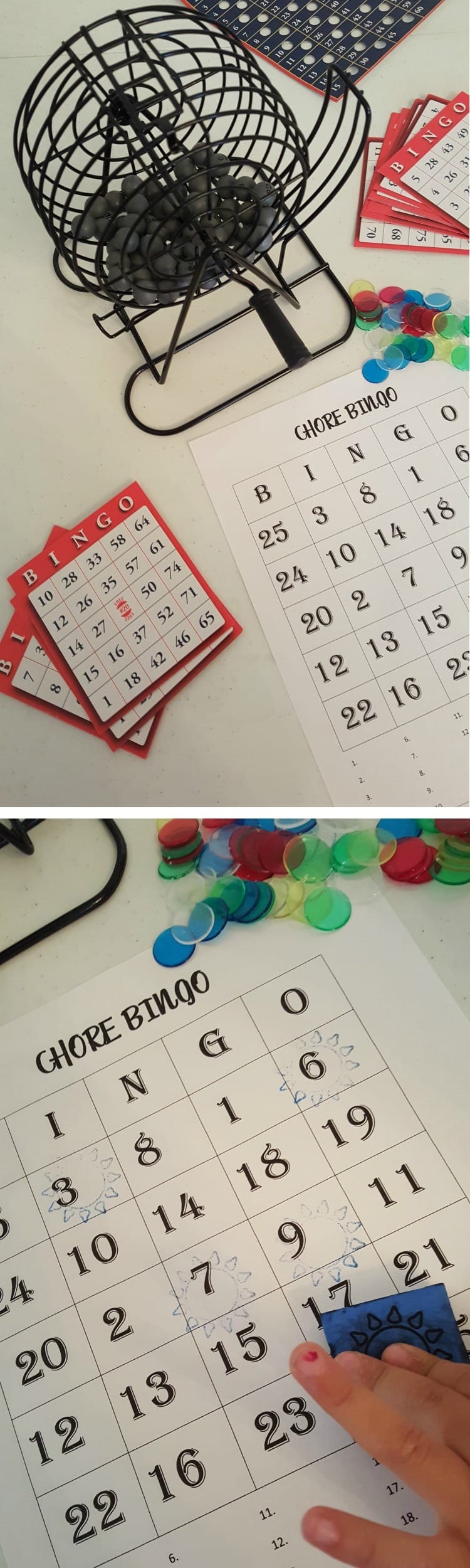 Chore Chart - Bingo Game