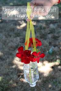 Water Bottle Hanging Flower Vase