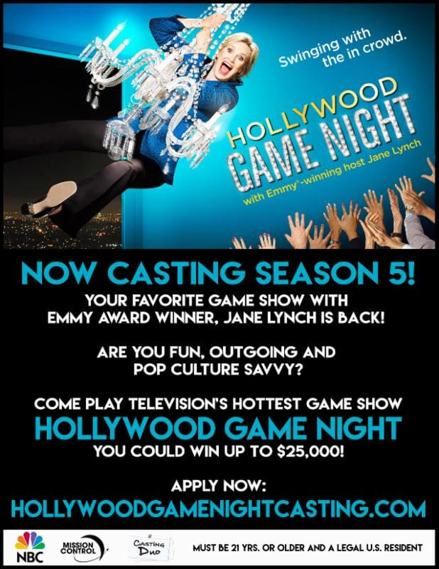 Jane Lynch - Hollywood Game Night - Casting Call