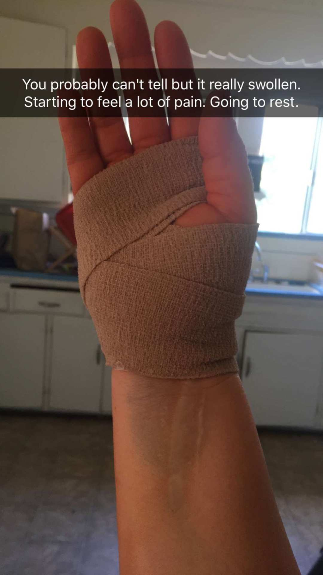 carpal tunnel surgery recovery bandage