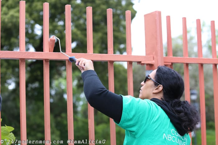 Comcast Cares Day Fence