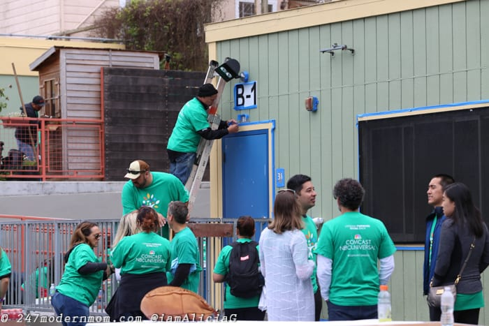 Comcast Cares Day Painting
