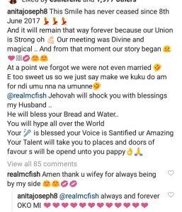 Anita Joseph's Husband Responds After She Said a Powerful Prayer