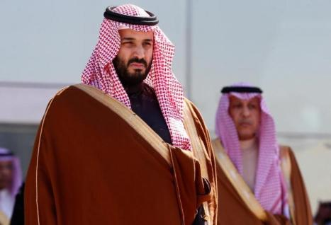 Saudi Deputy Crown Prince Mohammed bin Salman attends a graduation ceremony and air show marking the 50th anniversary of the founding of King Faisal Air College in Riyadh, Saudi Arabia.