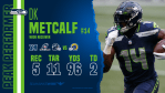 Every catch by DK Metcalf from 2-TD game Super...
