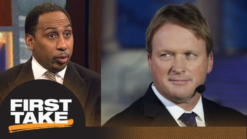 Stephen A. Smith has problem with Jon Gruden...