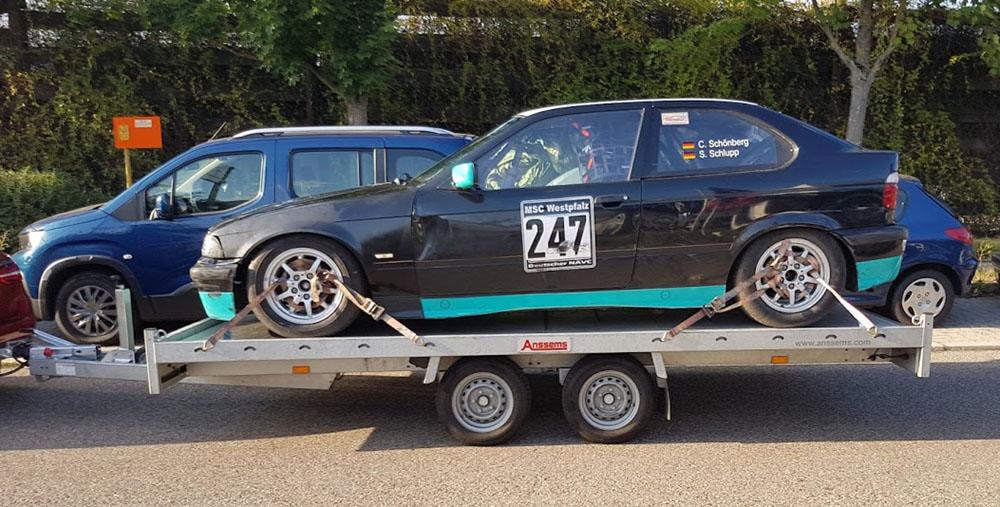 reparierter Unfallschaden am BMW