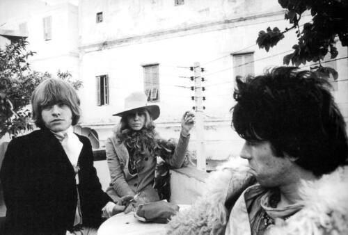 Brian Jones, Anita Pallenberg and Keith Richards...