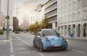 First test drive with e.GO Life, the electric city car made by the University of Aachen