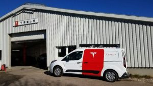 Tesla Service Center in Munich, Germany, visit
