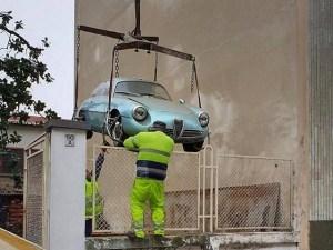 O Alfa Romeo Giulietta SZ, pastrata 35 de ani intr-un garaj, a fost vanduta cu 567.000 de euro