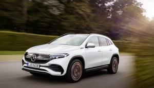 SUV-ul compact EQA este al treilea model din noua familie electrică de la Mercedes