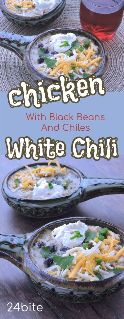 24Bite Recipe: Easy Chicken Chowder Recipe with Black Beans and Green Chiles by Christian Guzman
