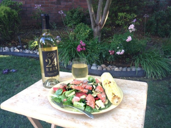 white wine with dinner