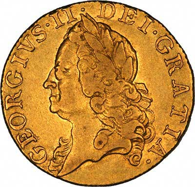 Obverse of 1759 Guinea