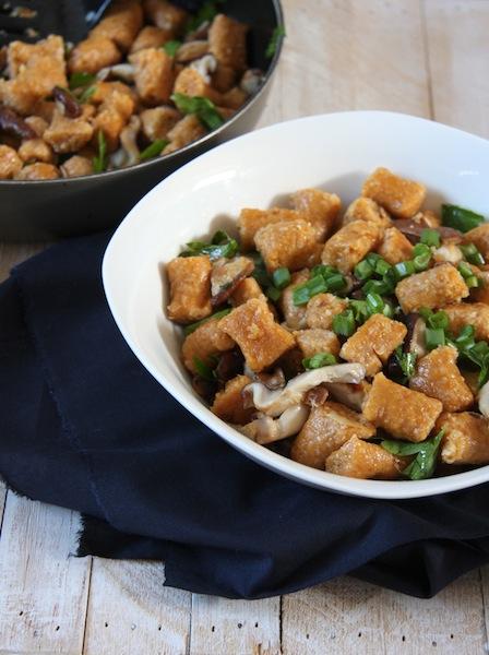 Sweet Potato Gnocchi with Coconut Oil Shiitake Mushrooms I 24 Carrot Life